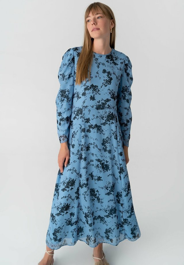 PRINTED CHIFFON - Maxi-jurk - blue