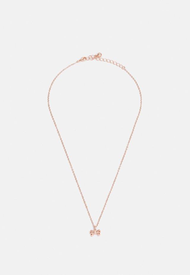PETRAE PETITE BOW PENDANT - Collana - rose gold-coloured