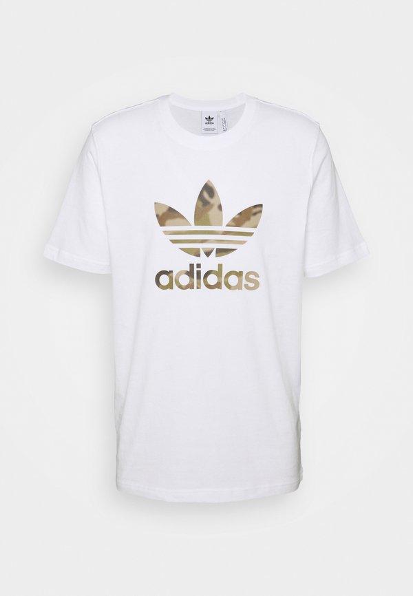 adidas Originals CAMO INFILL TEE - T-shirt z nadrukiem - white/wild pine/biały Odzież Męska AGBK