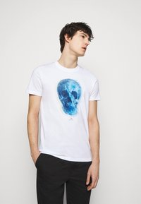 PS Paul Smith - MENS SLIM FIT SKULL - Print T-shirt - white - 0