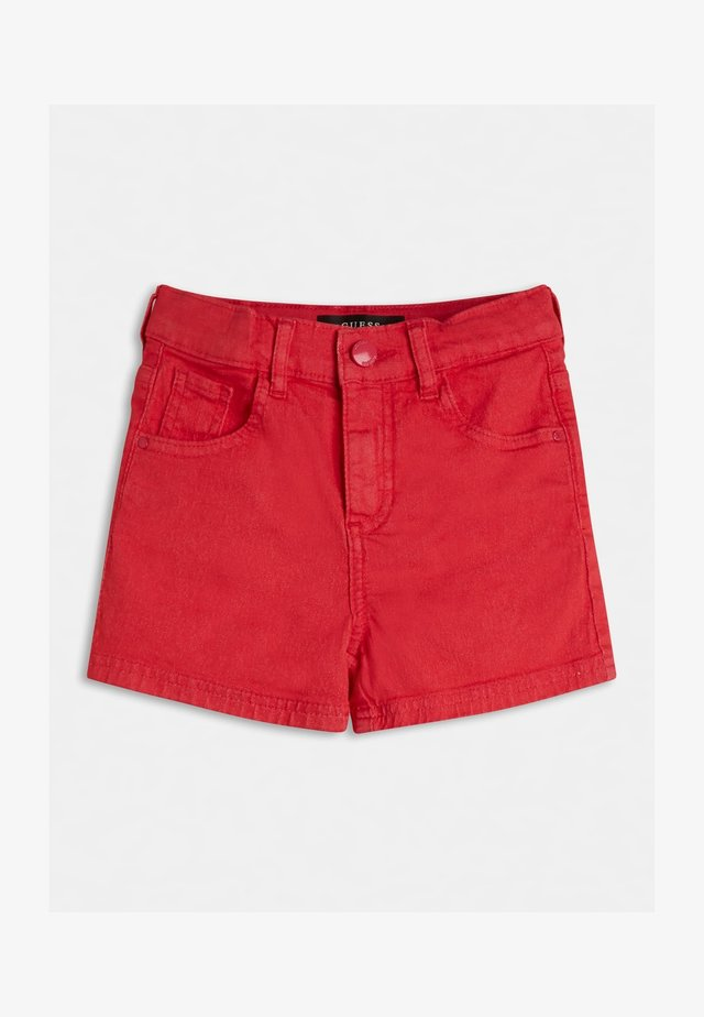 Shorts di jeans - rot
