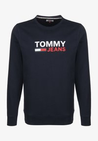 Tommy Jeans - SWEATER CORP LOGO - Sweatshirt - twilight navy - 0
