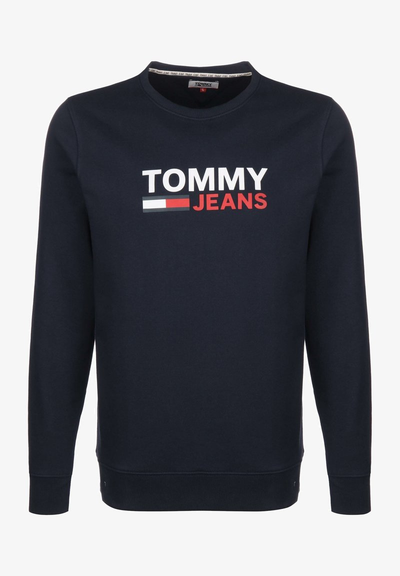 Tommy Jeans - SWEATER CORP LOGO - Sweatshirt - twilight navy