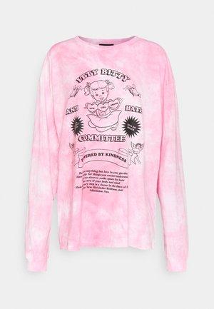 ITTY BITTY TIE DYE TEE - Camiseta de manga larga - pink tie dye