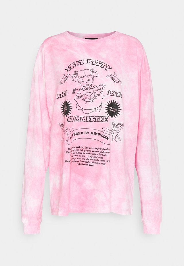 ITTY BITTY TIE DYE TEE - Langarmshirt - pink tie dye