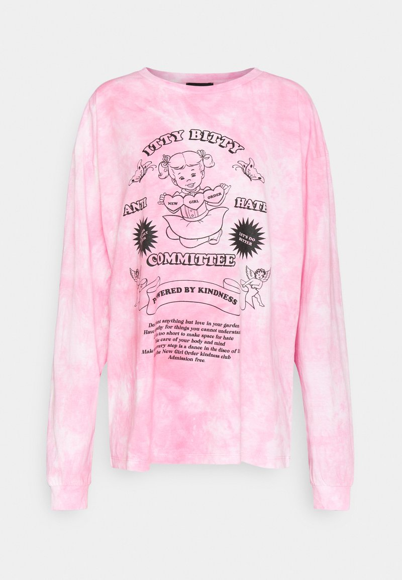 NEW girl ORDER - ITTY BITTY TIE DYE TEE - Topper langermet - pink tie dye