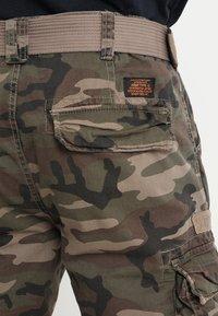 Schott - TRRANGER - Pantaloni cargo - camo khaki - 5
