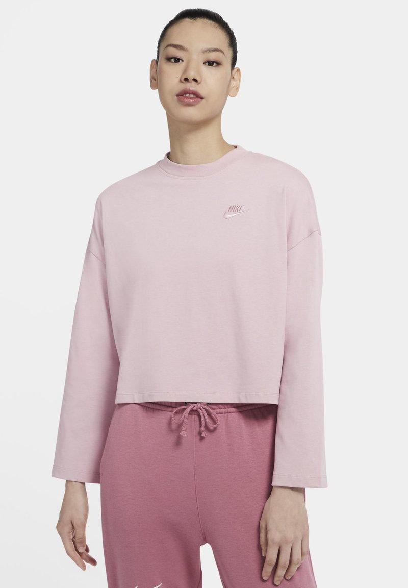 Nike Sportswear - W NSW LS  - Long sleeved top - plum chalk/plum chalk