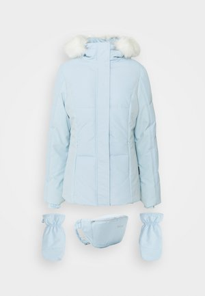 SKI JACKET WITH MITTENS AND BUMBAG  - Winterjas - light blue