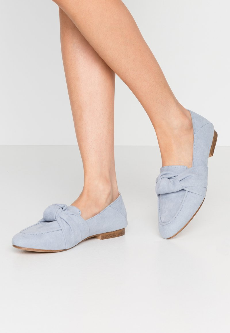 Topshop - AYLA KNOT LOAFER - Scarpe senza lacci - blue