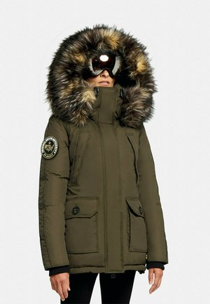 MOUNTAIN BIG BADGE - Down jacket - khaki