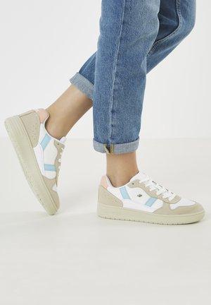 Baskets basses - white/blue/peach