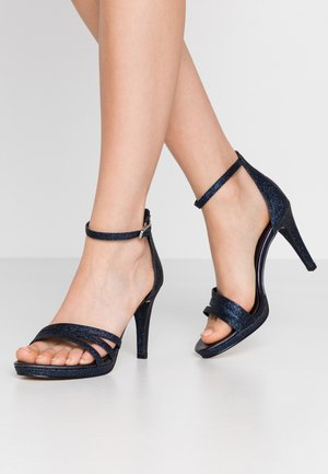 High heeled sandals - navy glam