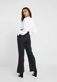 Fashion Union Petite - TORA TROUSERFASHION UNION SCALLOP TRIM - Trousers - black - 2