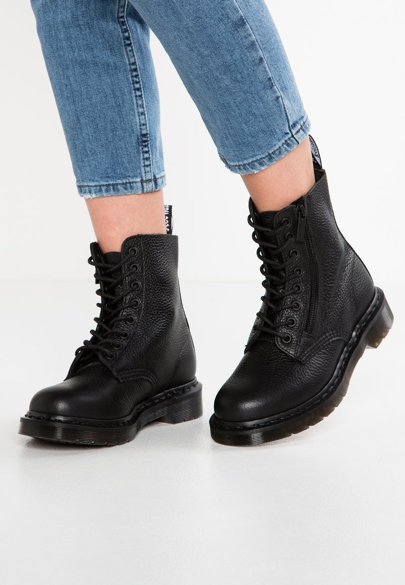 Dr. Martens - 1460 PASCAL ZIP 8 EYE BOOT - Lace-up ankle boots - black
