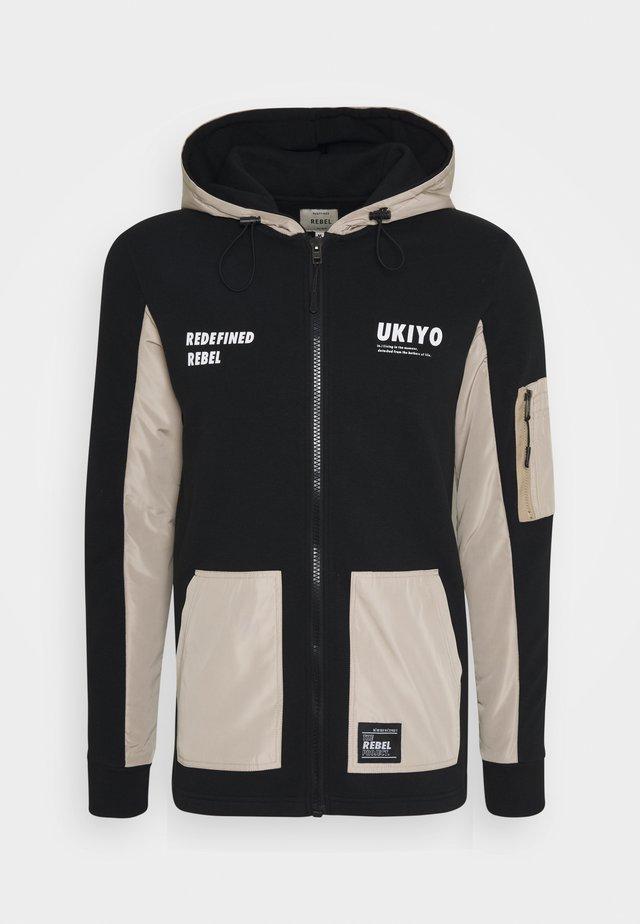 RODNEY SWEAT - Zip-up hoodie - black