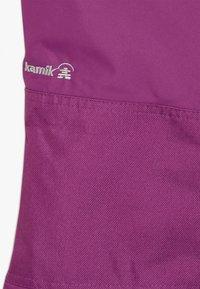 Kamik - WINKIESOLD - Spodnie narciarskie - berry - 3