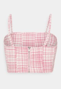 Missguided - BRUSHED CHECK CROP TOP - Blůza - pink - 1