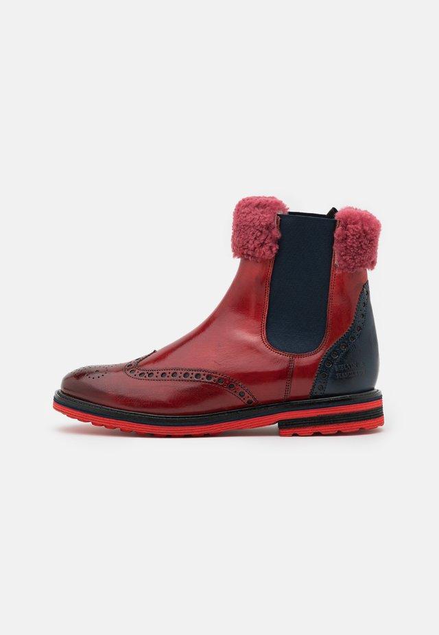 AMELIE  - Kotníkové boty - classic ruby/classic navy/red/beige