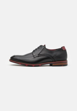 DENOS - Lace-ups - black/bordo