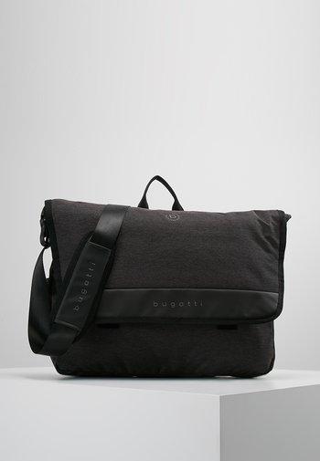 MESSENGER BAG - Across body bag - schwarz/grau