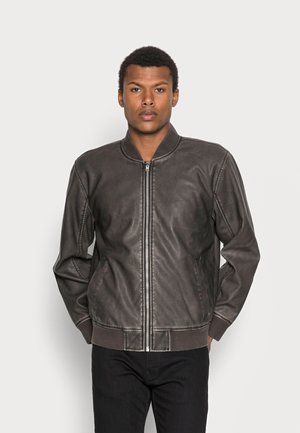 DISTRESSED - Giacca in similpelle - black