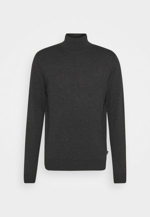 JPRFAST ROLL NECK  - Stickad tröja - dark grey melange
