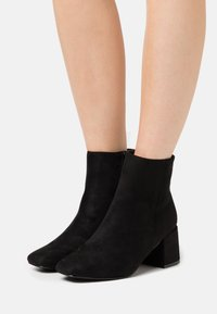 New Look - BYRON ROUND TOE MID BLOCK - Ankle boots - black - 0
