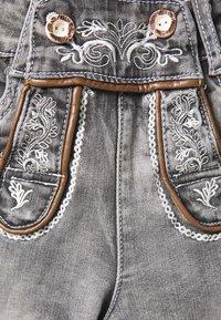 Marjo - FRANZISKA BERMUDA - Denim shorts - grey - 2