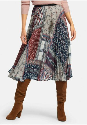 A-line skirt - blau/multicolor