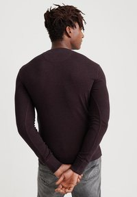 Superdry - MIT LANGEN ÄRMELN  - Långärmad tröja - burgundy - 2