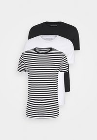 Calvin Klein Jeans - TEE 3 PACK  - T-shirt basic - black/ black/ white - 0