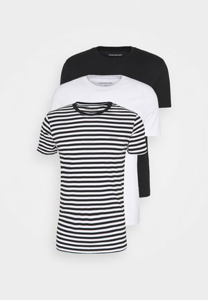 3 PACK  - T-Shirt basic - black/ black/ white