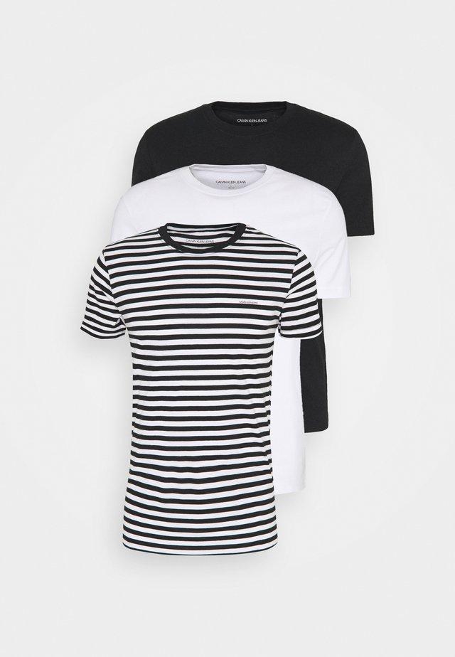 TEE 3 PACK  - T-shirt basique - black/ black/ white