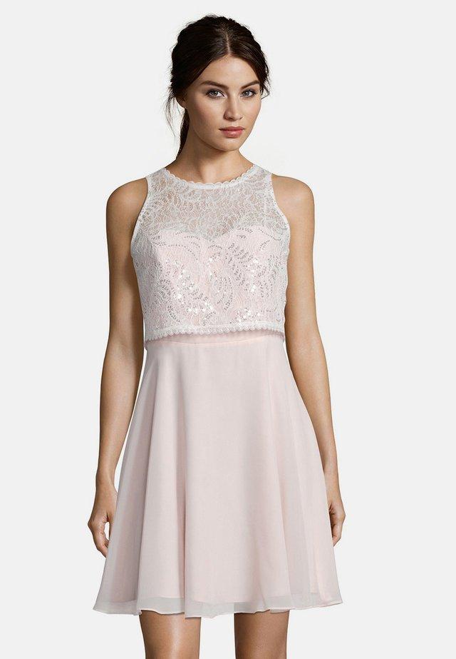 MIT SPITZE - Cocktail dress / Party dress - rosé/white