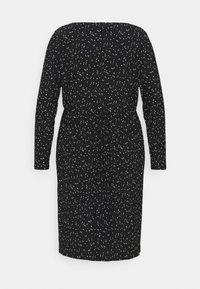 Evans - POLKADOT PLEATED DRESS - Denní šaty - black - 7