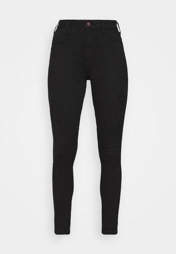 Jeans Skinny Fit - black destroy