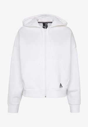 3STRIPES ATHLETICS HODDIE PULLOVER - Zip-up hoodie - white/black