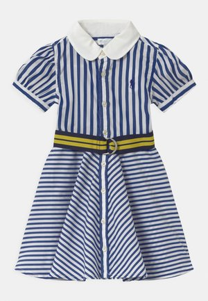 MIX STRIPE SET - Robe chemise - blue/white