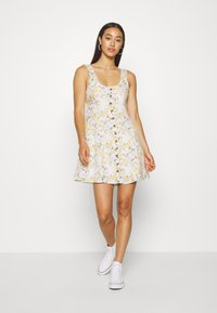 American Eagle - LINED TIE BACK MINI DRESS - Vestito estivo - cream - 0
