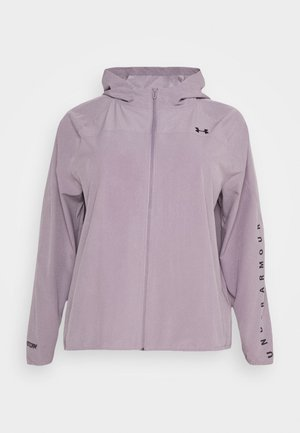 HOODED JACKET - Chaqueta de deporte - slate purple