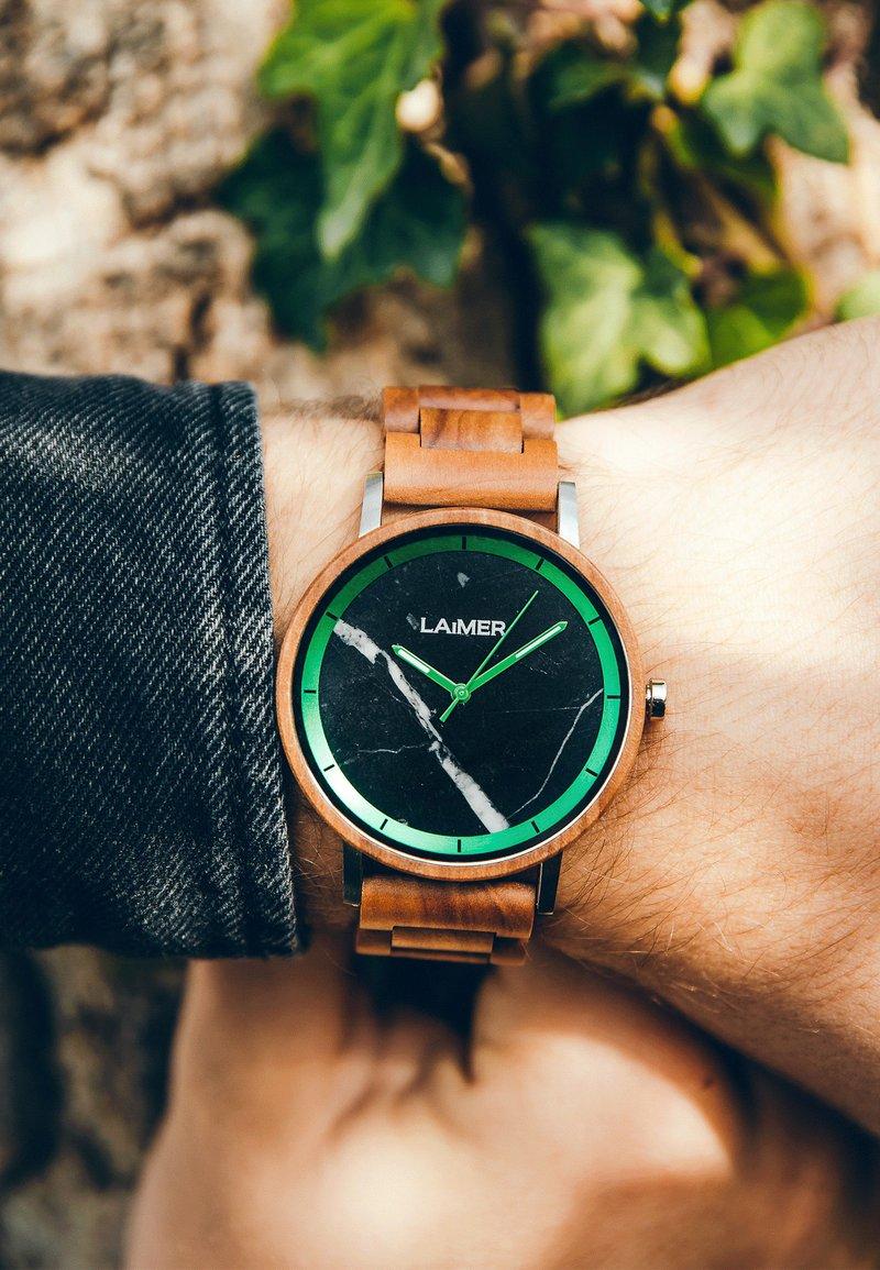 LAIMER - LUCA - Watch - silber/braun