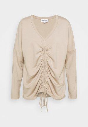 LONGSLEEVE TIE - Long sleeved top - beige