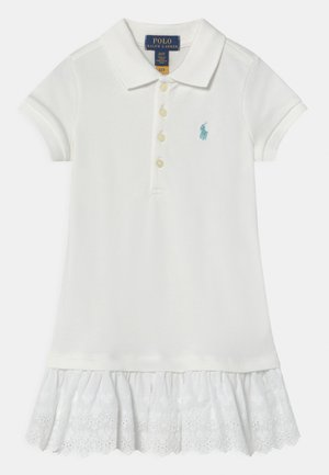Day dress - white/turquoise cloud