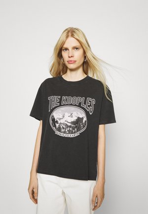 T-shirt print - black washed