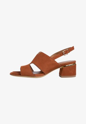 Sandals - brandy suede