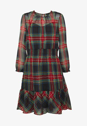 GLENDALE DRESS TARTAN - Vestito estivo - black/multi