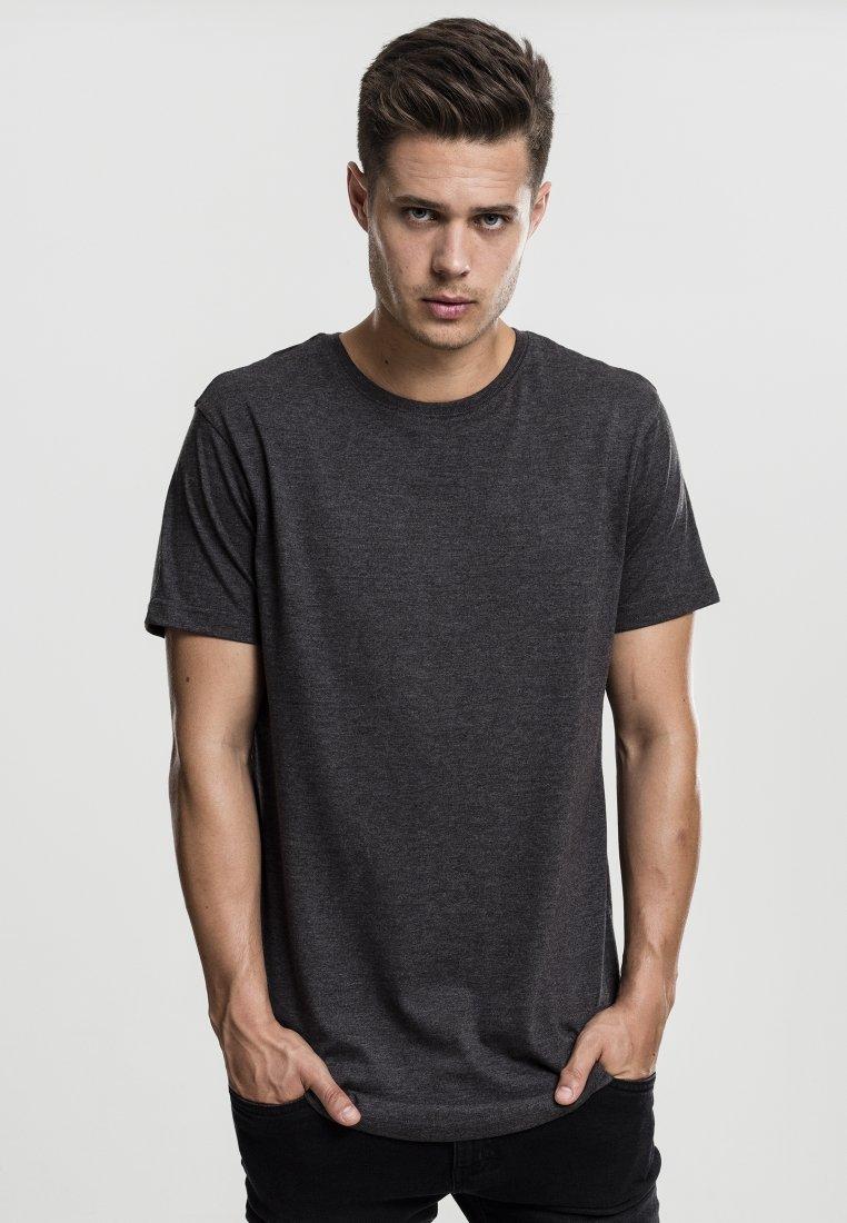 Homme SHAPED MELANGE LONG TEE - T-shirt basique
