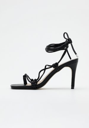 EXTREME SQUARE STRAPPY MID - Sandaler med høye hæler - black