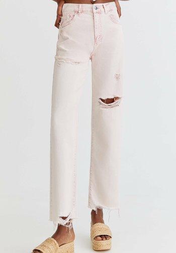 Straight leg jeans - rose gold coloured